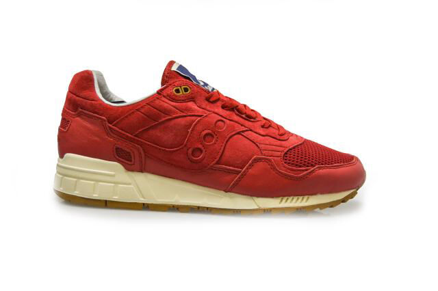 Mens Saucony  Shadow 5000 - 700454 - Red Cream Trainers