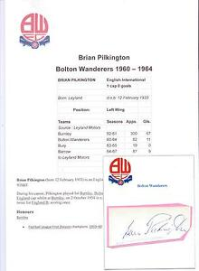 BRIAN-PILKINGTON-BOLTON-WANDERERS-1960-1964-ORIGINAL-HAND-SIGNED-CUTTING-CARD