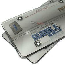 2 Getönt Kennzeichen Rahmen Abdeckung Bubble Schilde Schutz für Auto-Car-Truck