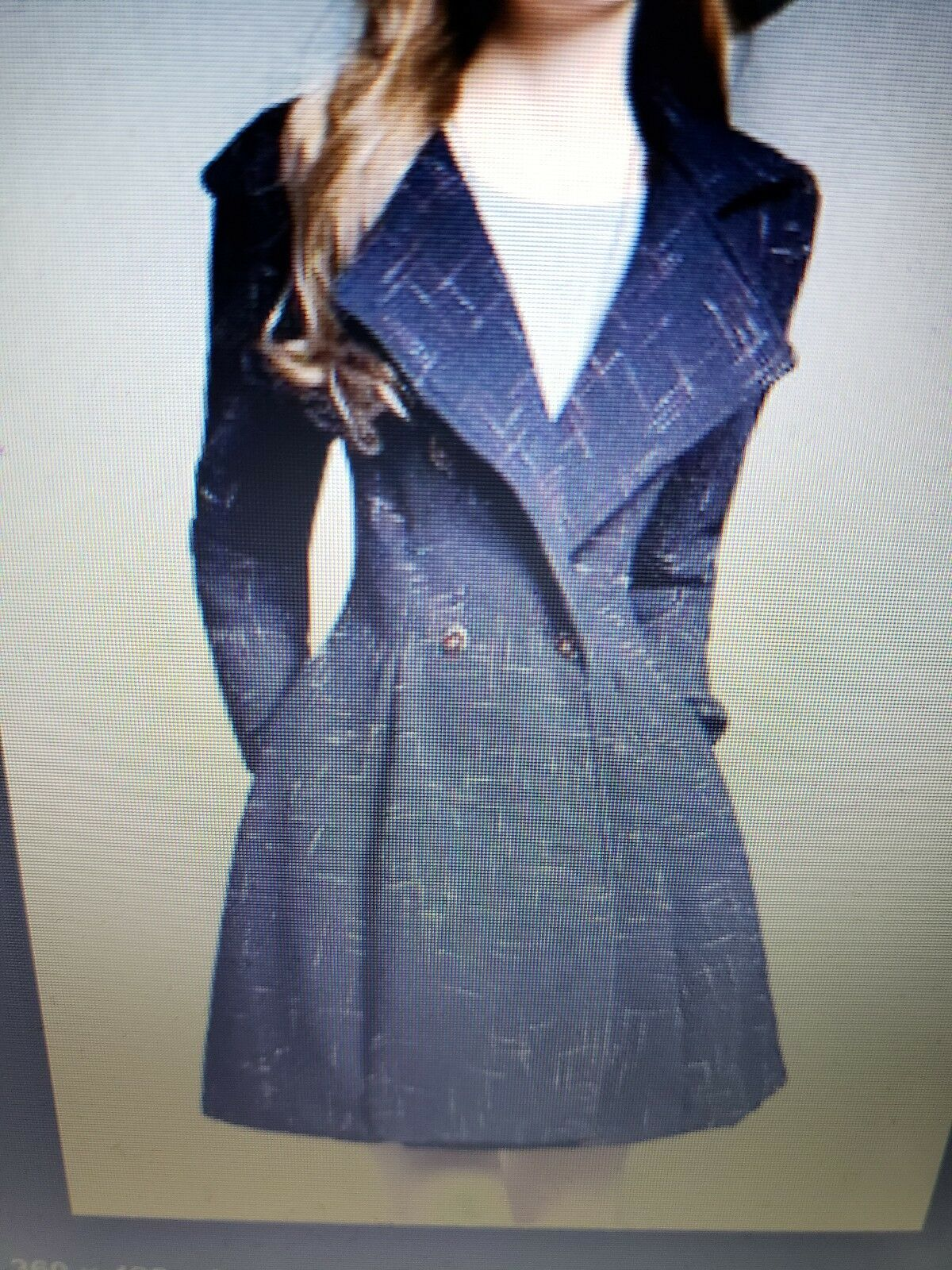 Wool Blend A Line Skirted Coat - Cerulean - Small