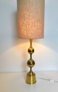 Details About Solid Brass Table Lamp Hollywood Regency Mid Century Modern 1970s