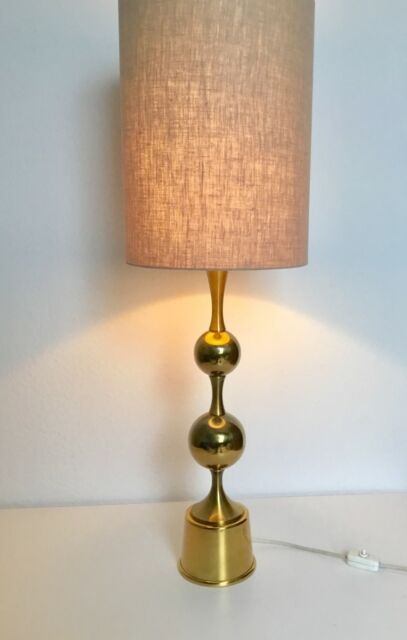Solid Brass Table Lamp Hollywood Regency Mid Century Modern 1970s Ebay