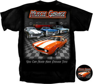 2f56dbcd8 MUSCLE GARAGE T-SHIRT CAMARO GTO GM TEE T-SHIRT AMERICAN MUSCLE CARS ...