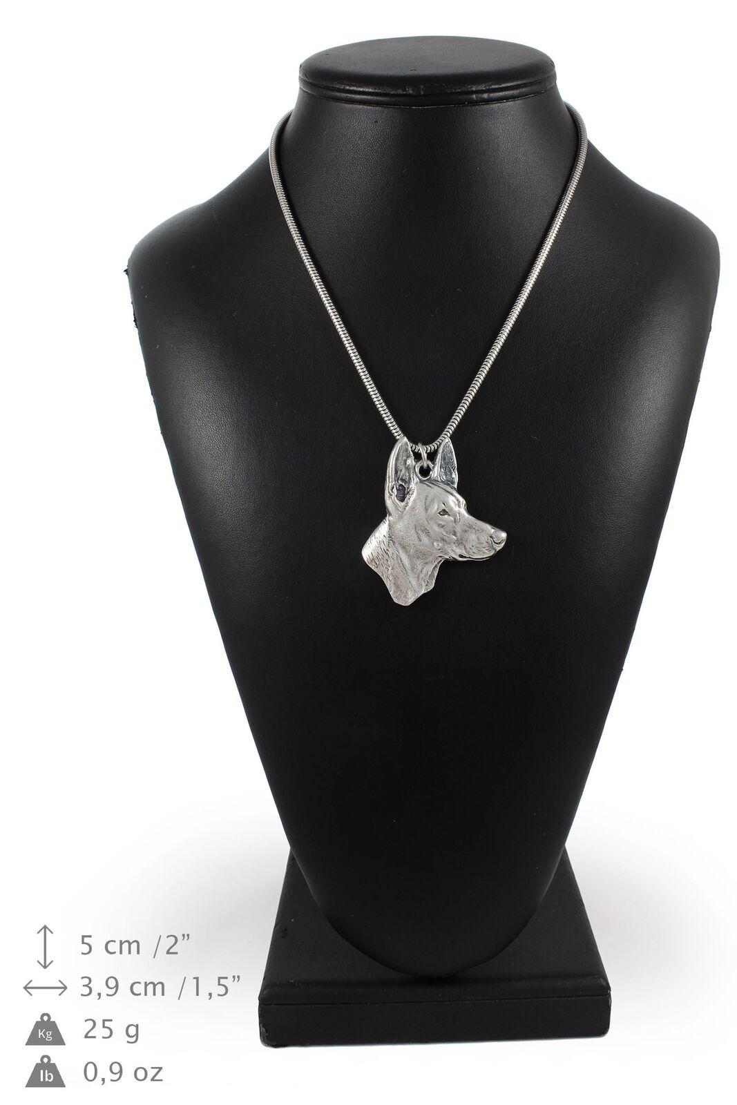 Cane dei Faraoni - collana con un cane su una catena d'silver Art Dog IT
