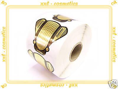 500 Design Schablonen für Gel oder Acryl/Butterfly Gold