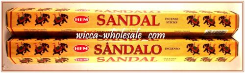 LOT OF 40 Sticks HEM SANDAL Incense 2 TUBE OF 20 Sticks = 40 Sticks SANDALWOOD