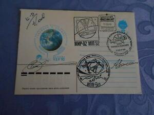 Sojus TM 14  Space Mail original Crewsigniert Space