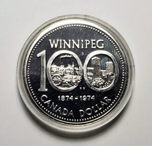 Canada 1974 Winnipeg Silver $1.00 One Dollar Coin Specimen