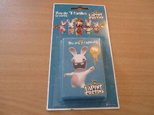 jeu de 7 familles 42 cartes the lapins cretins NEUF