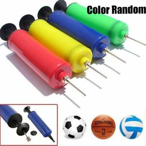 Ball Inflator Inflating Air Hand Pump Needle Sport Football Soccer Basketball