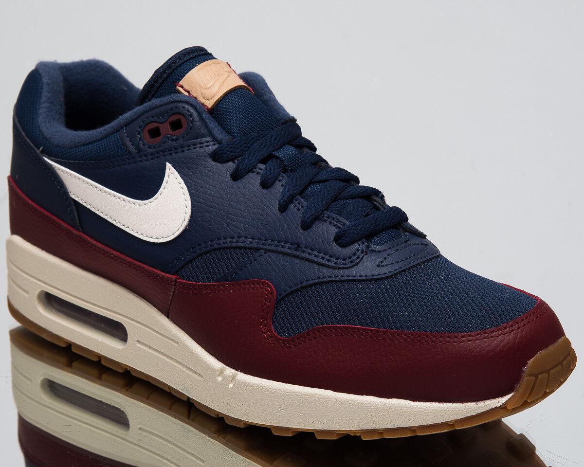 Nike Air Max 1 Homme Mode De Vie Chaussures bleu marine équipe Rouge 2018 Neuf Baskets AH8145-400