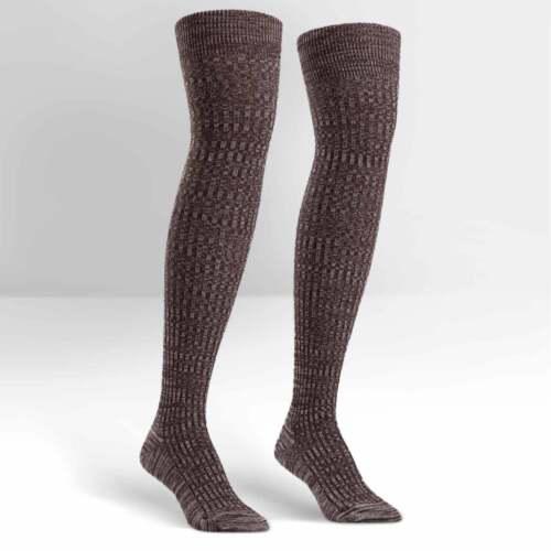 Brown Mixed Rib UK 3-8 Sock It To Me Women/'s Over the Knee Socks