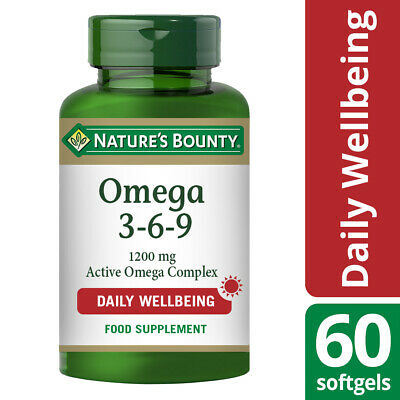 Nature S Bounty Omega 3 6 9 1200mg Active Omega Complex 60