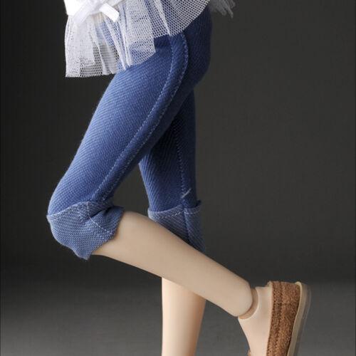 Dollmore 1//4 BJD MSD Roll-Up Leggings Blue