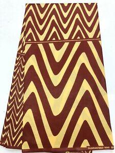 African Wax Cotton Print Fabric Ankara 6 Yards