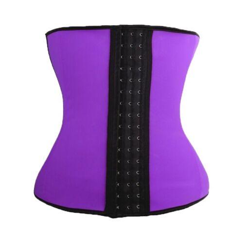 Women Latex Rubber Waist Training Belt Cincher Underbust Corset Body Shaper #