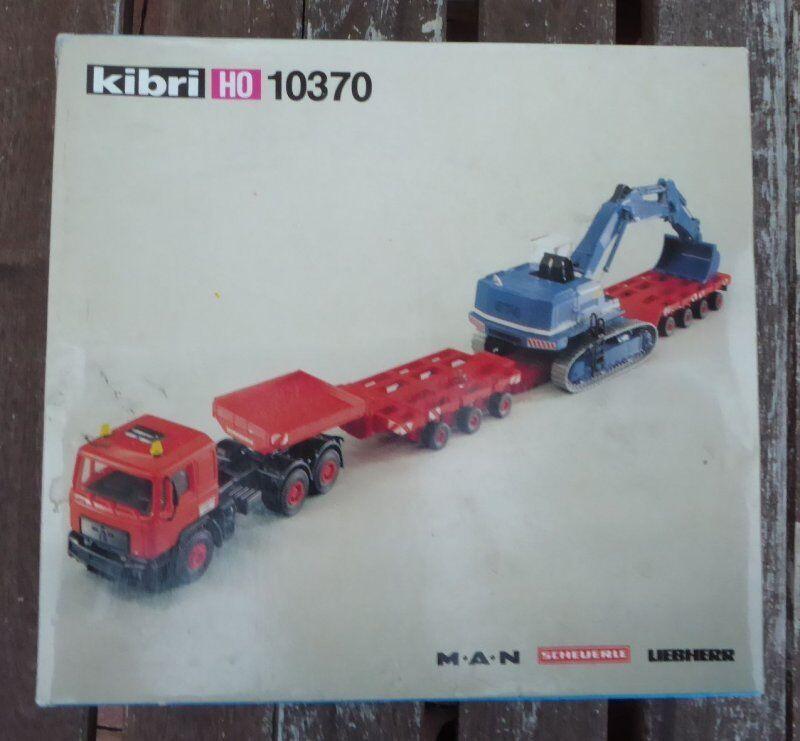 Kibri 10370 H0 1 87 Man Scheuerle Liebherr Baggertransport Rareza Neuwertig