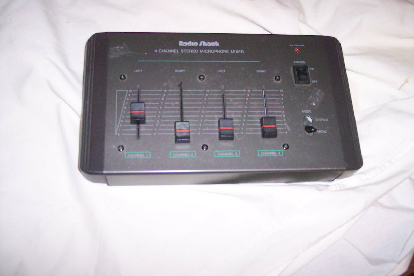 Radio shack 4 ch stereo miccrophone mixer.. Available Now for 9.99