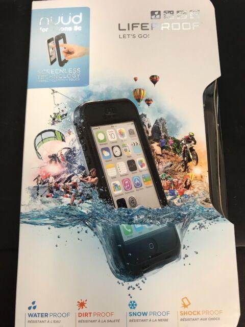 LIFEPROOF NUUD CASE FOR APPLE iPhone 5C WATERPROOF GENUINE BLACK CLEAR NEW