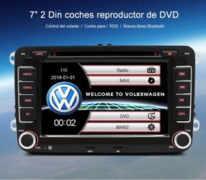 Radio-VW-B6-7-Golf-5-6-GPS-DVD-ct-volante-Bluetooth-mp4-AVI-tactil-camara