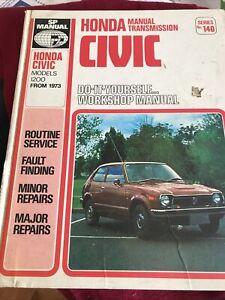 Honda Civic service repair Shop manual Models 1200 From 1973 SP Manual No 140
