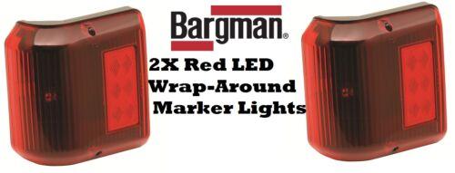 2X BARGMAN WRAPAROUND LED LIGHTS #86 SERIES MARKER TRAILER RV MARKER CAMPER BOAT