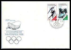 1988 GERMANY Cover - Winter Olympics In Calgary, Canada, Berlin FL