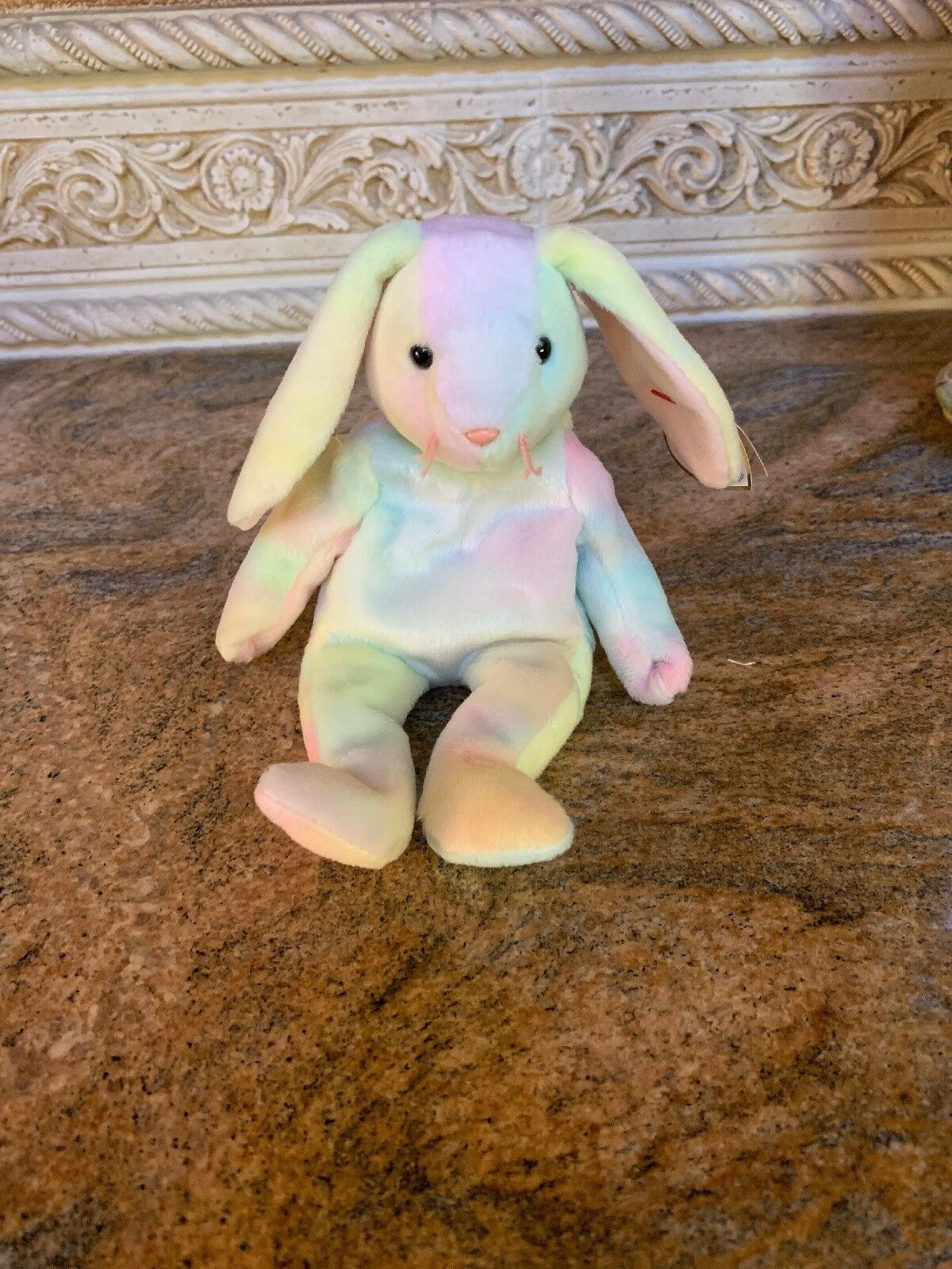 1999 RARE Ty Beanie Baby HIPPIE the Ty-Dye Bunny, RETIRED, MWMT