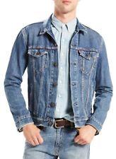 Levi's Premium Men's Denim Trucker Jacket Stonewash Blue Jean M