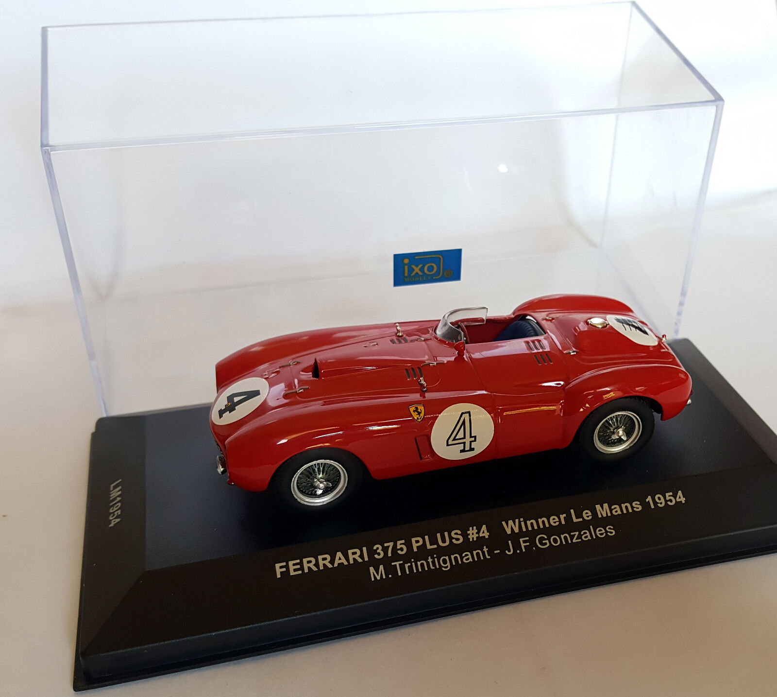 FERRARI 375 Plus   4 Winner Le Mans 1954-TRINTIGNANT / Gonzales IXO 1/43