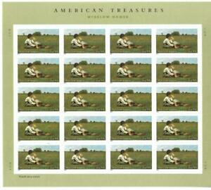 US SCOTT 4473 PANE OF 20 WINSLOW HOMER STAMPS 44 CENT FACE MNH