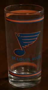 Vintage-60s-St-Louis-Blues-Glass-Cup-1969-Burger-Chef-NHL-Hockey