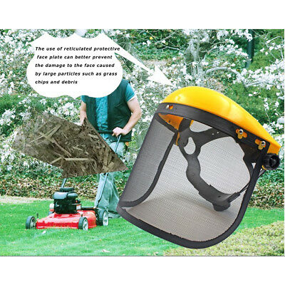 Mesh Chainsaw Safety Helmet Logging Brushcutter Forestry Visor Hard Hat