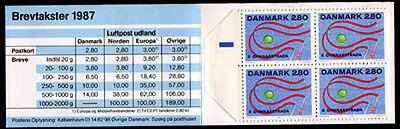 Im Markenheftchen Gymnaestrada Phantasie Farben facit Hs 44 Ausdauernd Dänemark 897 **