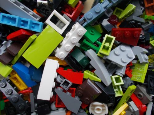 LEGO 50 SMALL PIECES MIX UNUSUAL RARE FINISHING PARTS HINGES CLIPS TILES BRICKS