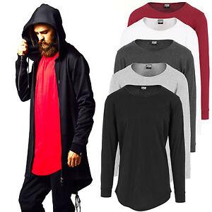 bf71d2d03024 Das Bild wird geladen Urban-Classics-Herren-Longsleeve-Shirt-Extra-Lang-Long -