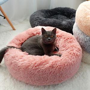 Lit-pour-chien-chat-en-peluche-doux-Tapis-Panier-Corbeille-Couchage-Panier-Nid