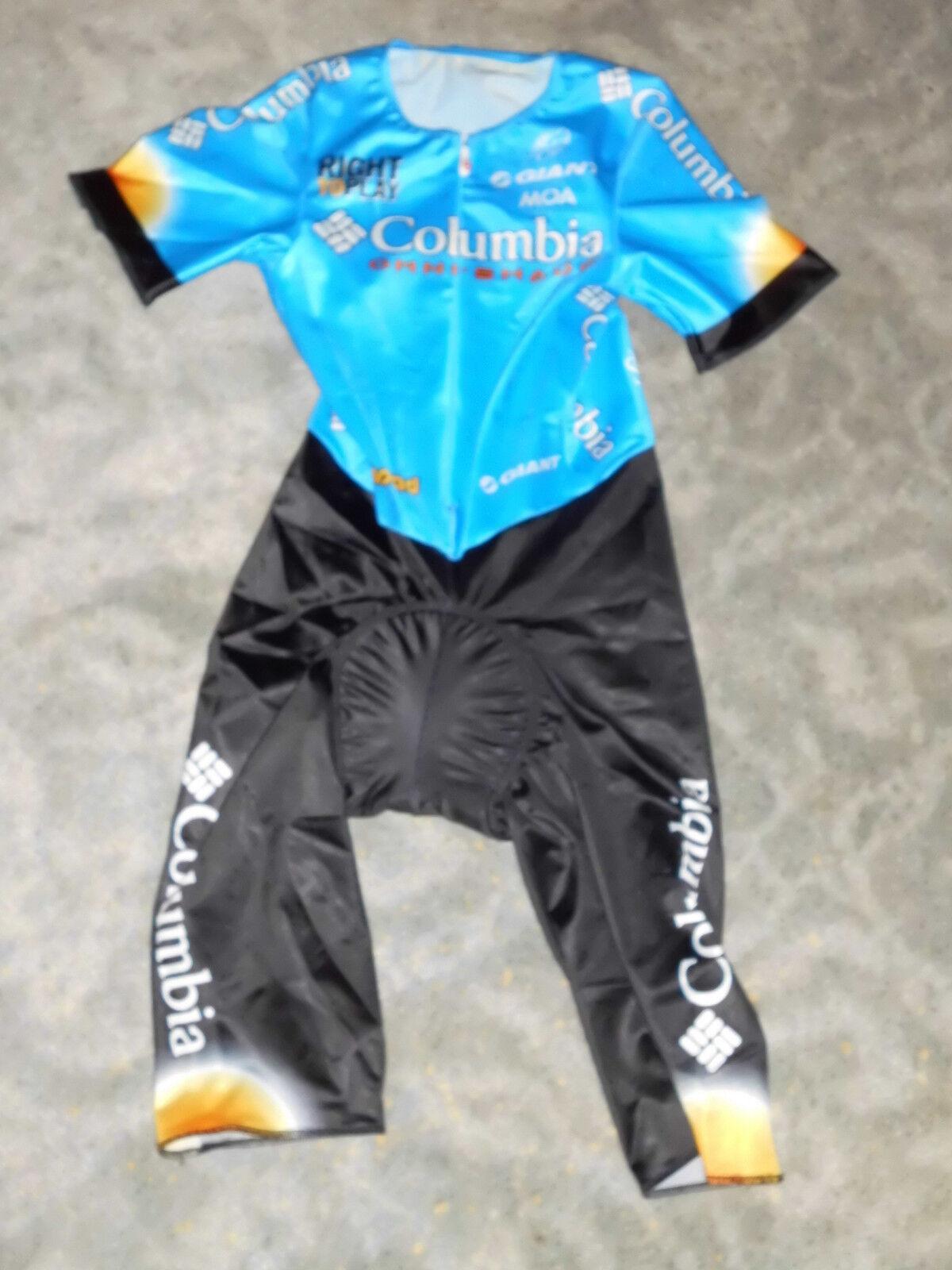 MOA Team Columbia Highroad Giant Aero kurzarm Zeitfahranzug / Skinsuit