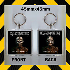 IRONMAIDEN -THE BOOK OF SOULS – - CD COVER KEYRING - KEY CHAIN - 45mm X 45mm