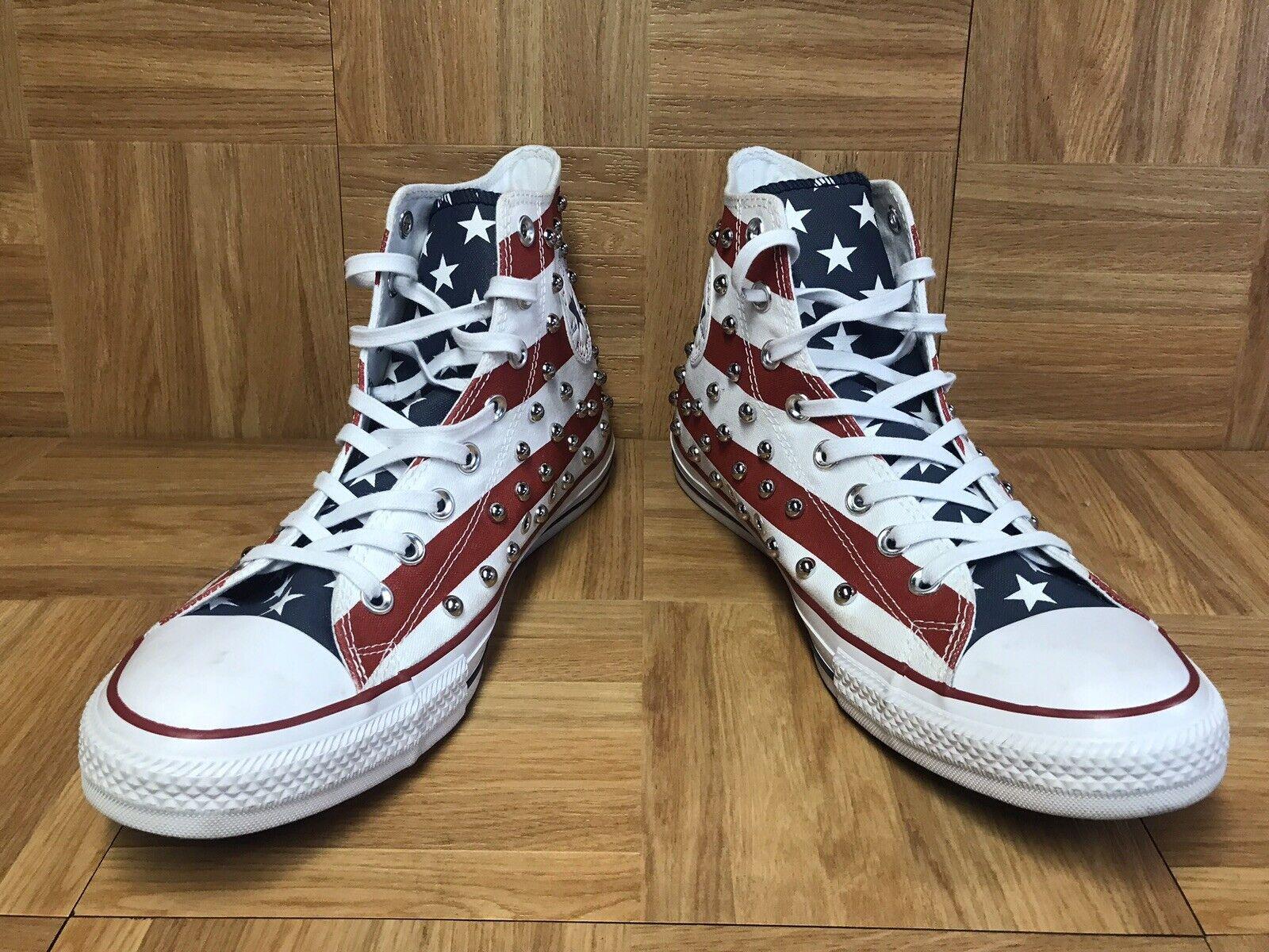 Raro    Converse Chuck Taylor todos Star Bars Stars American EE. UU. Flag Tachuelas Talla 10 2a68ac