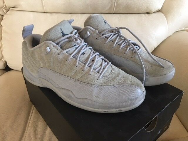 4b7690bcbe017a Air Jordan 12 XII Retro Low Mens 308317-002 Wolf Grey Suede Shoes Size 10  for sale online