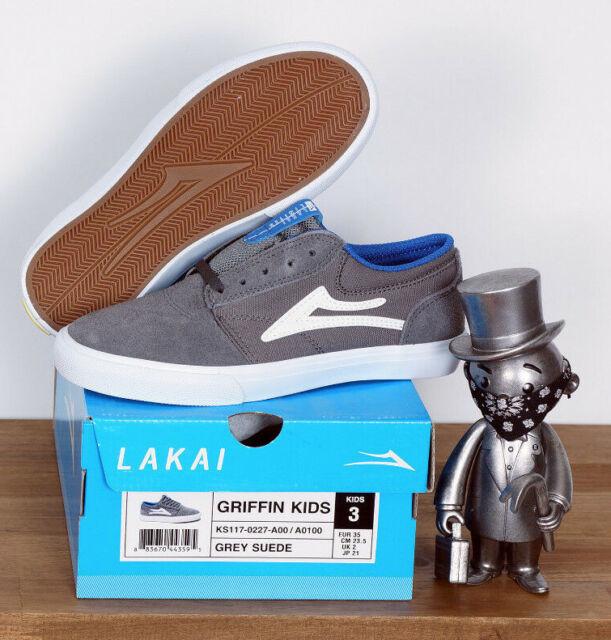 Lakai Footwear Skate Shoes Shoes Kids Children Toddler Griffin Grey Suede 2/33