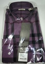 Burberry Brit Men Long Sleeve Black Current Shirt New Size M
