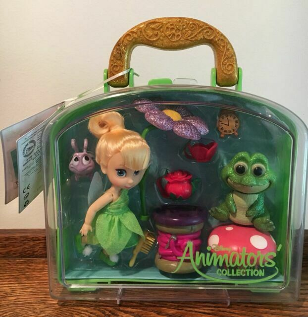 Disney Animators Collection Tinker Bell Mini Doll Play Set 5 Inch