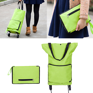 1Pc Shopping Trolley Bag With Wheels Portable Foldable Shopping ...
