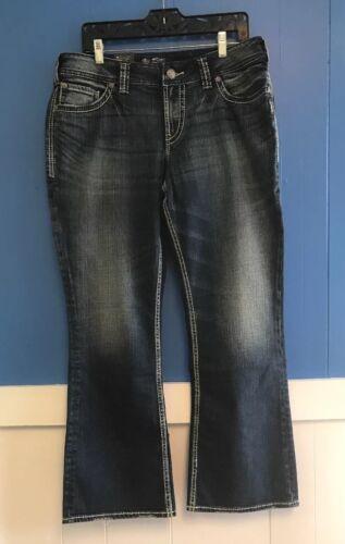 Suki Silver Womens Denim Jeans SUKI SURPLUS Size 14 x 30 Boot Curvy Relaxed