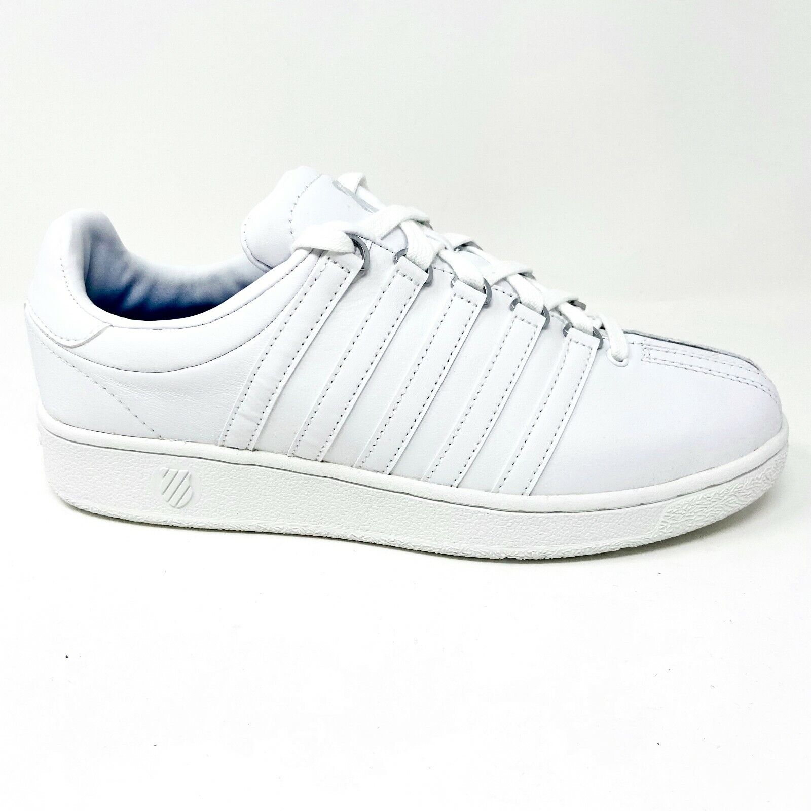 K-Swiss Classic VN Triple White Mens Casual Sneakers Extra Wide 03343 101