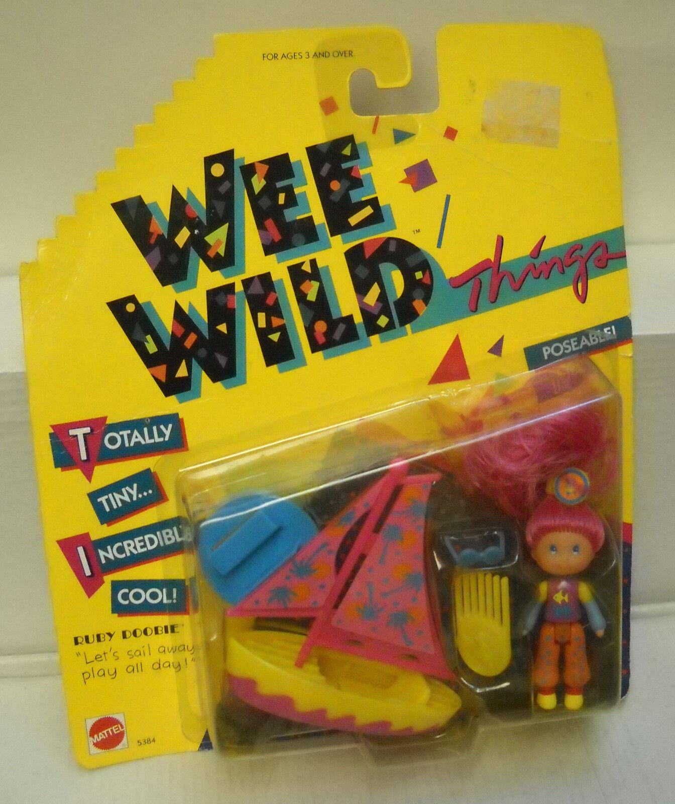 Nrfc Vintage Mattel Wee Wild Things Rubí Broken con Velero