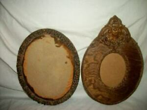 ANTIQUE-WOOD-BARBOLA-PICTURE-FRAME-LOT-SMALLER-SIZE-UNIQUE-FRAMES