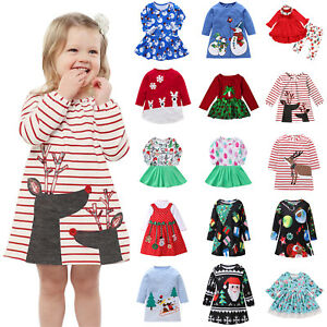 Toddler-Kids-Baby-Girls-Santa-Princess-Dresses-Christmas-Costume-Party-Clothes